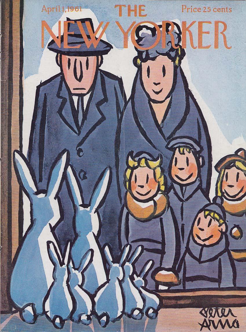 New Yorker cover Arno Family v Easter Bunnies 4/1 1961