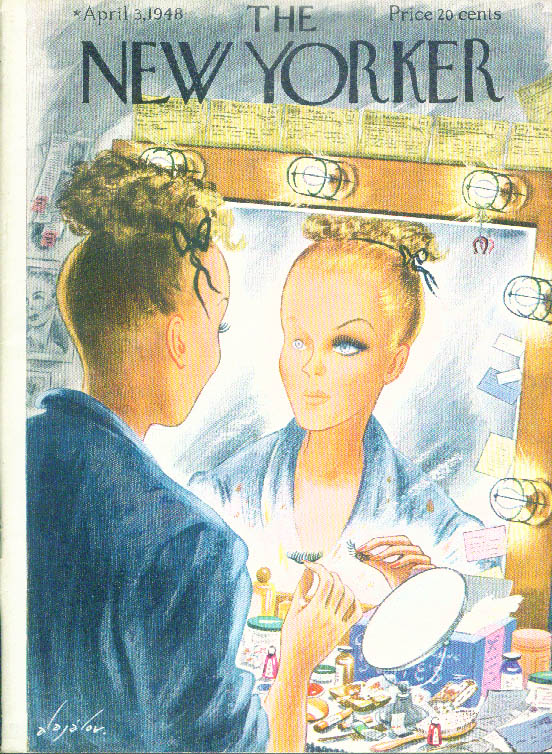 New Yorker cover Alajalov eye makeup miracle 4/3 1948