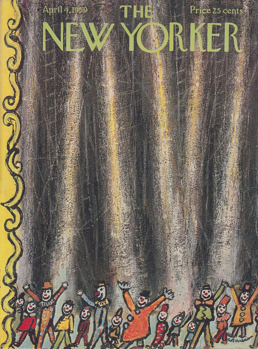 New Yorker cover Birnbaum circus clown parade 4/4 1959