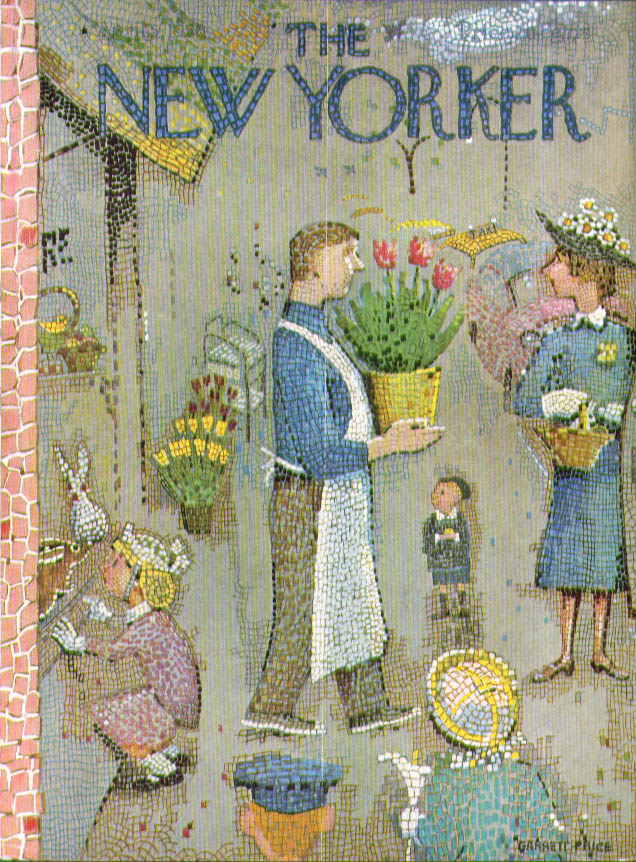 New Yorker cover Price mosaic flowershop 4/5 1958
