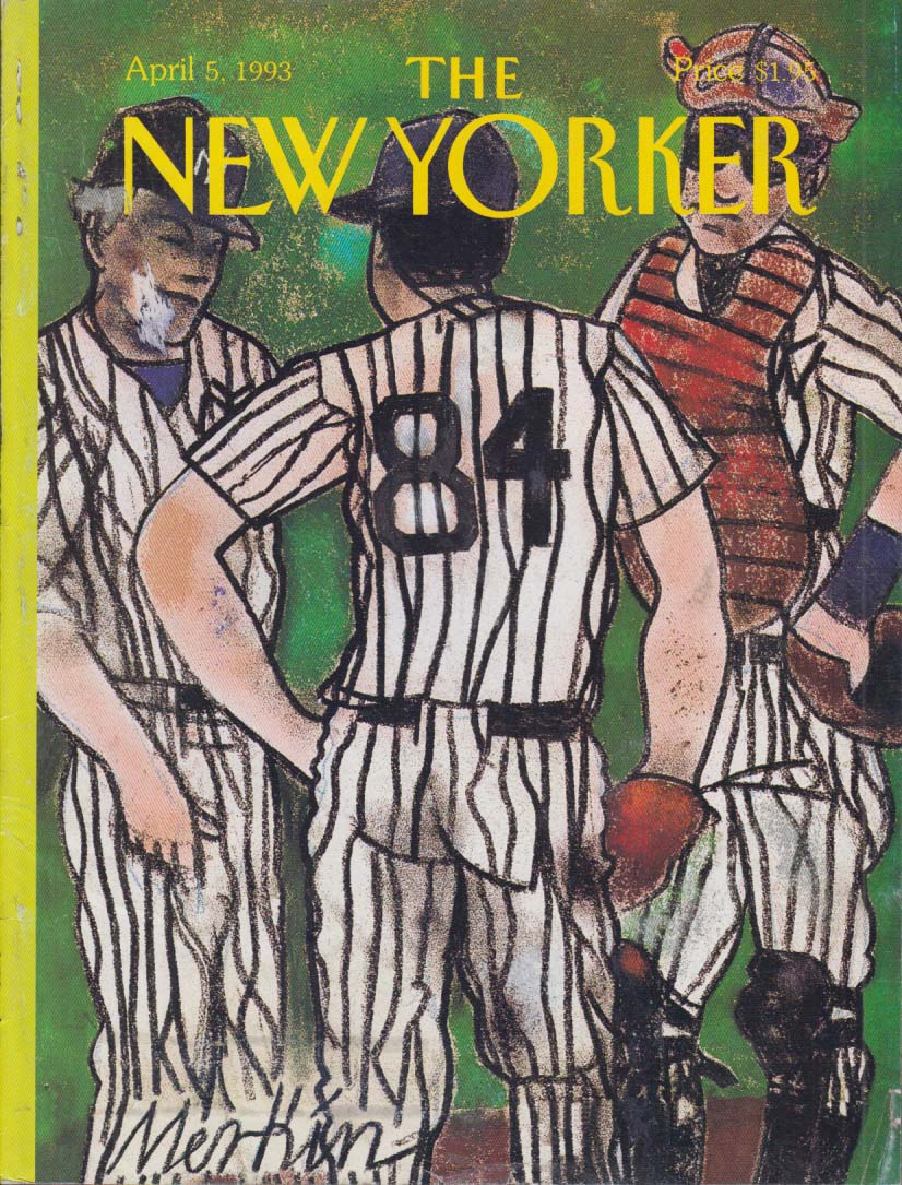New Yorker cover Merkin Yankees opening day 4/5 1993