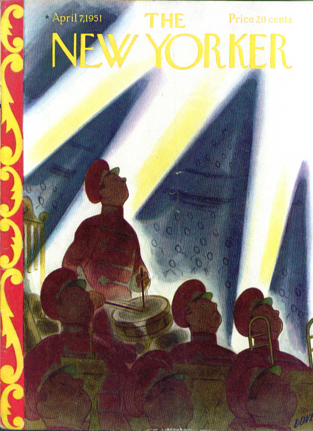 Image for New Yorker cover Dove drumroll for circus 4/7 1951