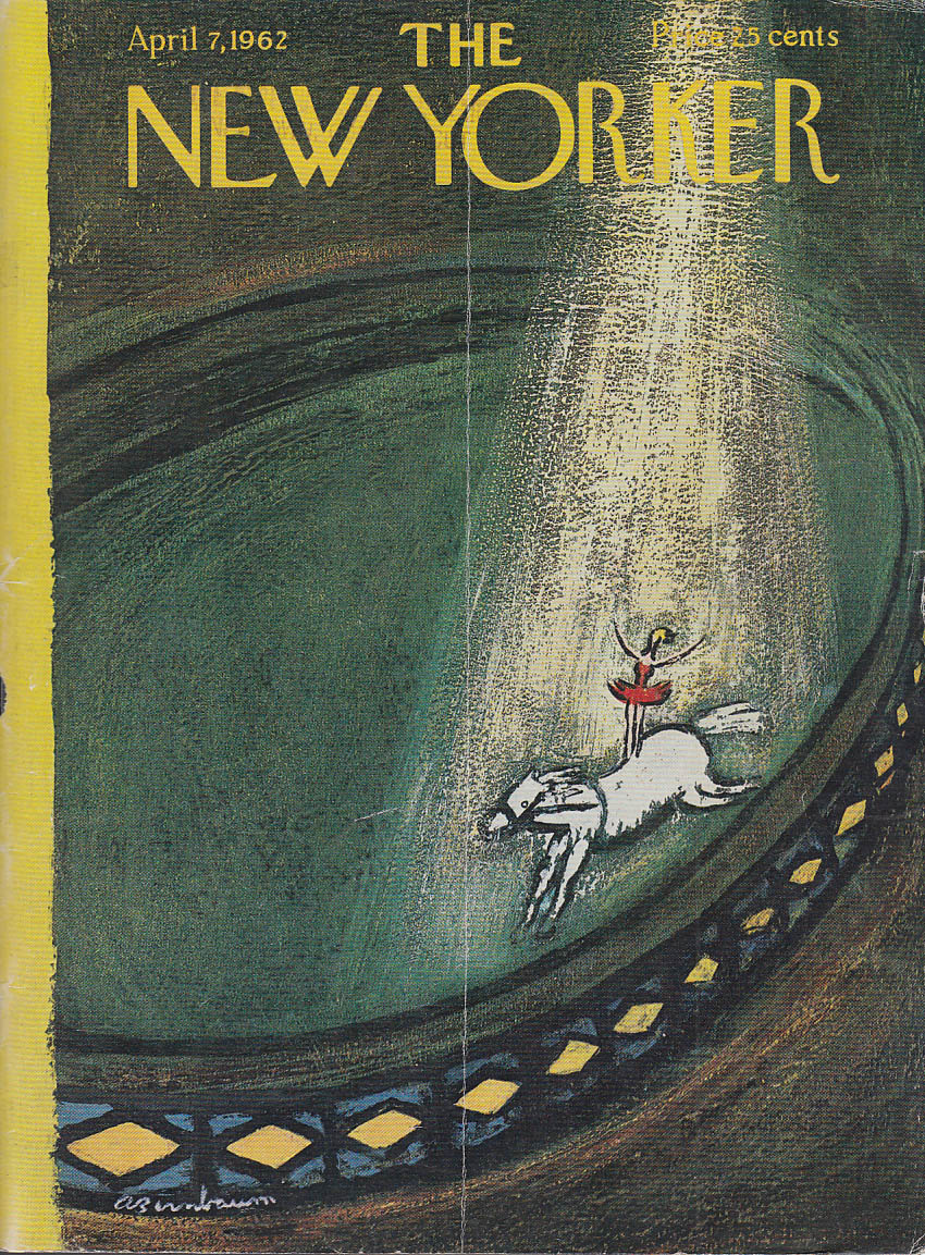 New Yorker cover Birnbaum circus horse act 4/7 1962