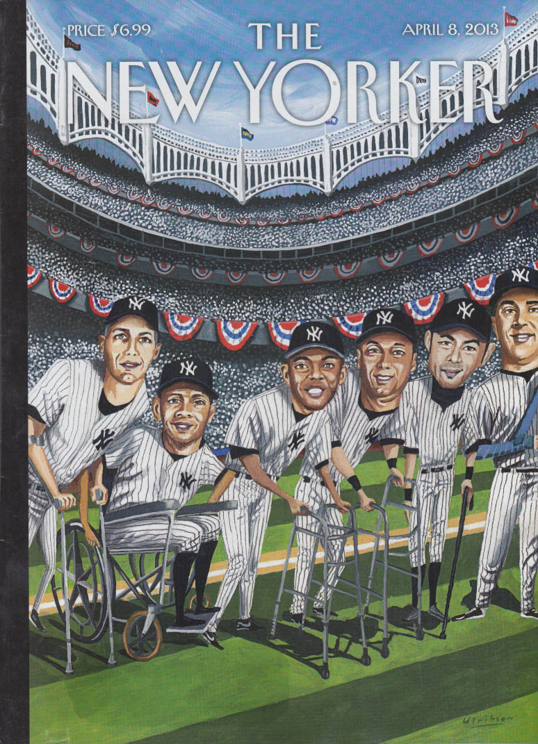 New Yorker cover 4/8 2013 Elriksen elderly New York Yankees open season