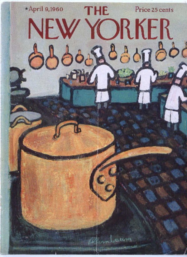 Image for New Yorker cover Birnbaum restaurant kitchen 4/9 1960