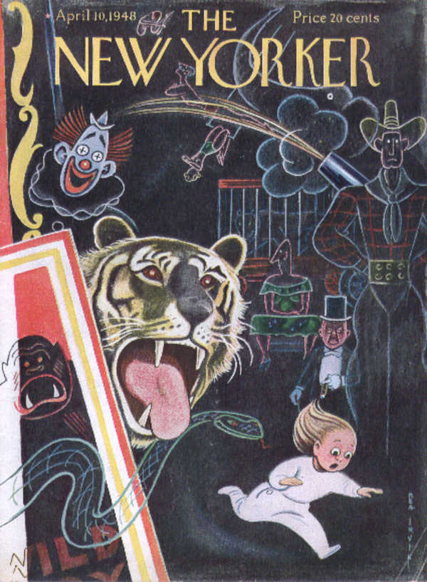 New Yorker cover Irvin scary circus dreams 4/10 1948