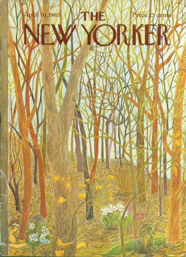 New Yorker cover Karasz 1st wildflowers 4/10 1965