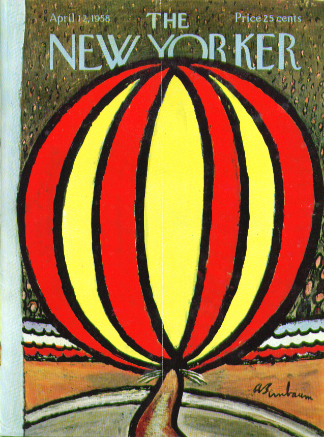 New Yorker cover Birnbaum circus seal 4/12 1958