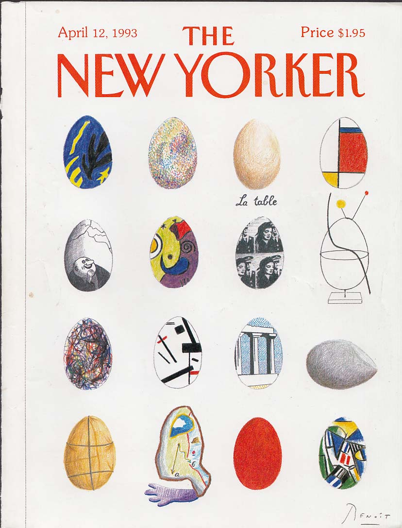 New Yorker cover Benoit Easter egg memories 4/12 1993