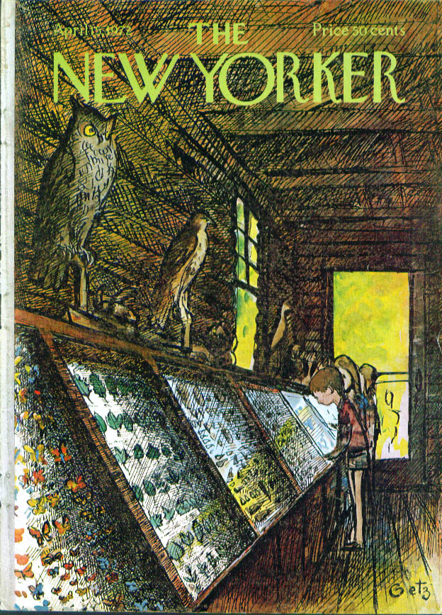 Image for New Yorker cover Getz natural history cabin 4/15 1972