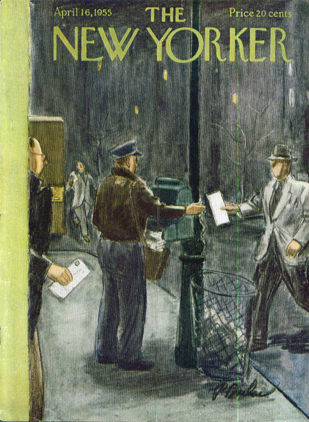 New Yorker cover Barlow last-second taxes 4/16 1955