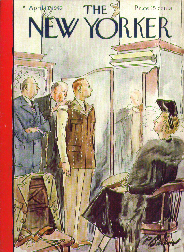 New Yorker cover Barlow tailored uniform 4/18 1942