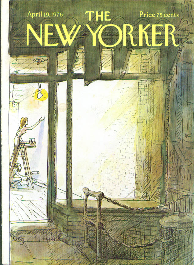 New Yorker cover Getz painting storefront 4/19 1976