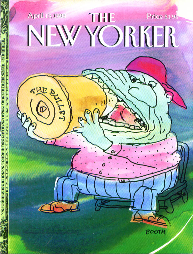 New Yorker cover Booth bite the bullet 4/19 1993