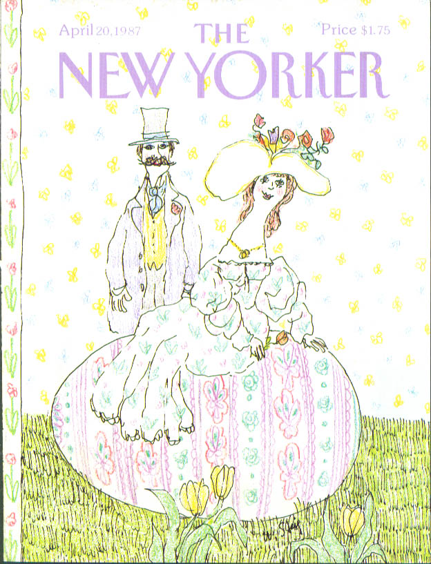 Image for New Yorker cover Steig couple on Easter egg 4/20 1987
