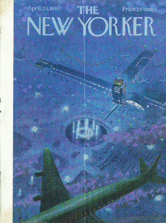 New Yorker cover Price aerial view of airport 4/23 1960