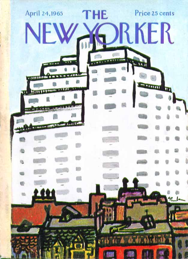 New Yorker cover Birnbaum highrise housing 4/24 1965
