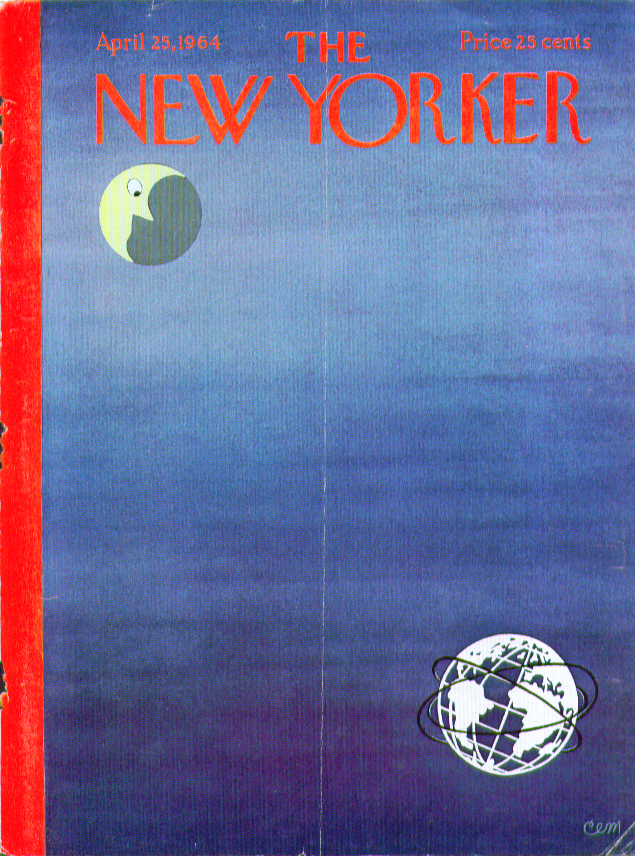 Image for New Yorker cover Martin crescent moon stare 4/25 1964