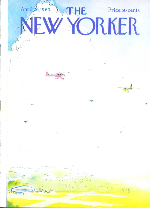 Image for New Yorker cover Getz private planes aloft 4/26 1969