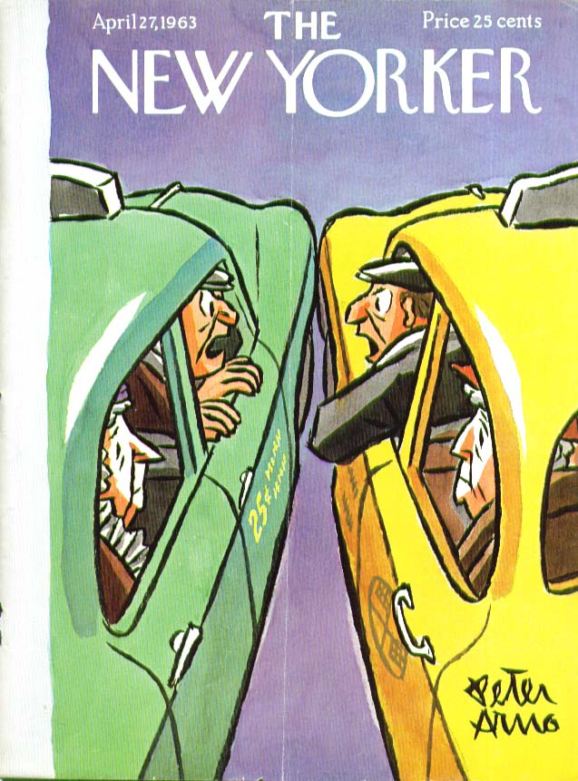 New Yorker cover Arno cab drivers argue 4/27 1963