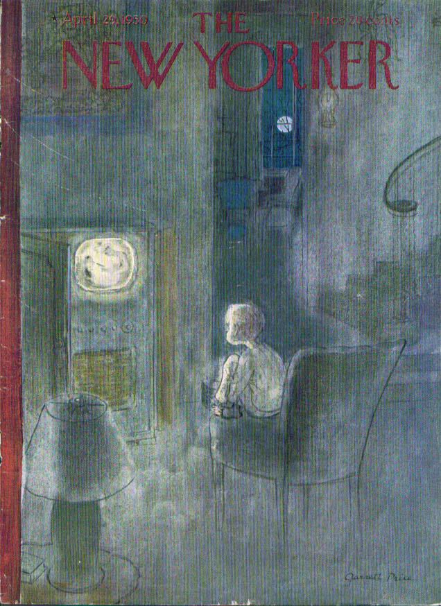 New Yorker cover Price kid watches TV 4/29 1950