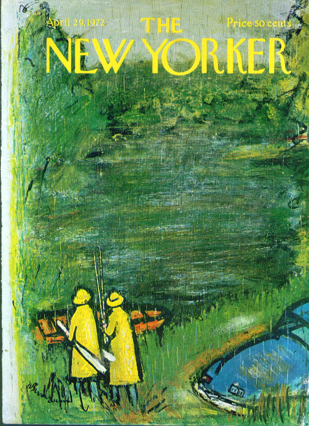 New Yorker cover Birnbaum 1st day fishing 4/29 1972