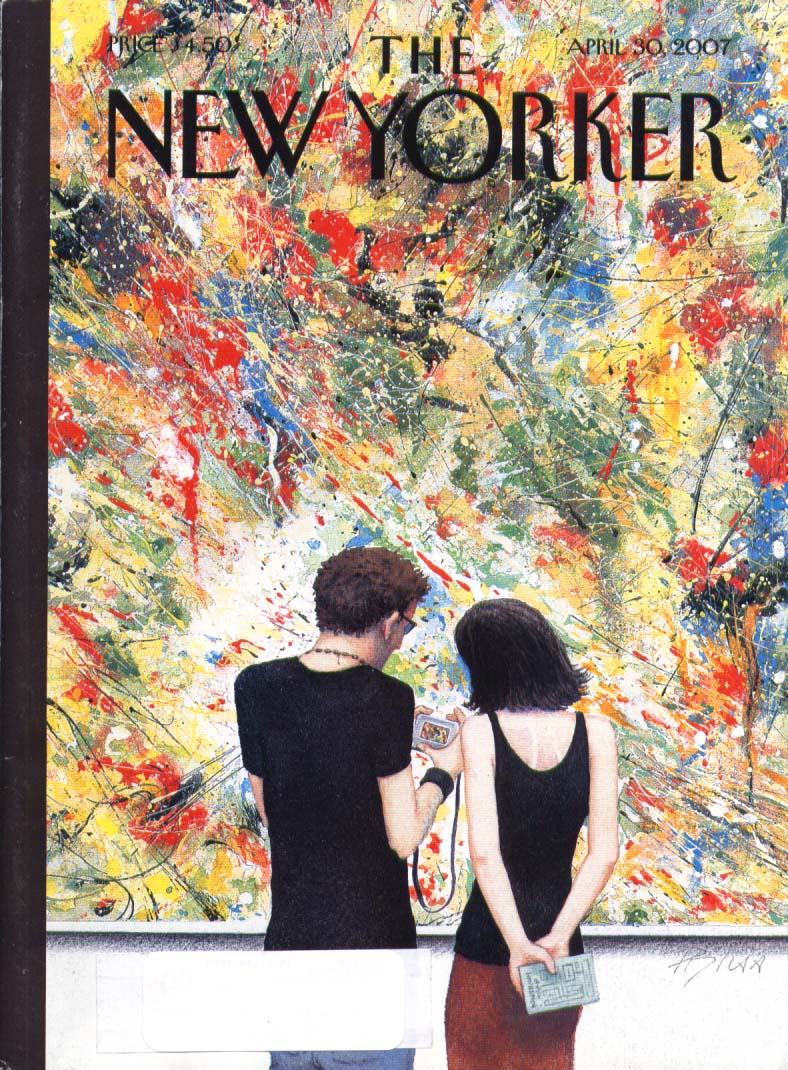 New Yorker cover Bliss digitized Pollock 4/30 2007
