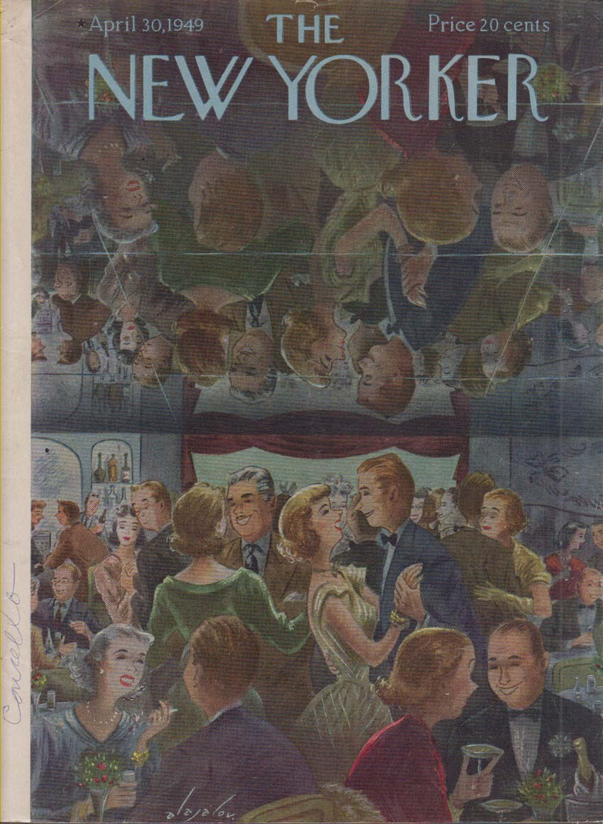New Yorker cover Alajalov mirrored nightclub ceiling 4/30 1949