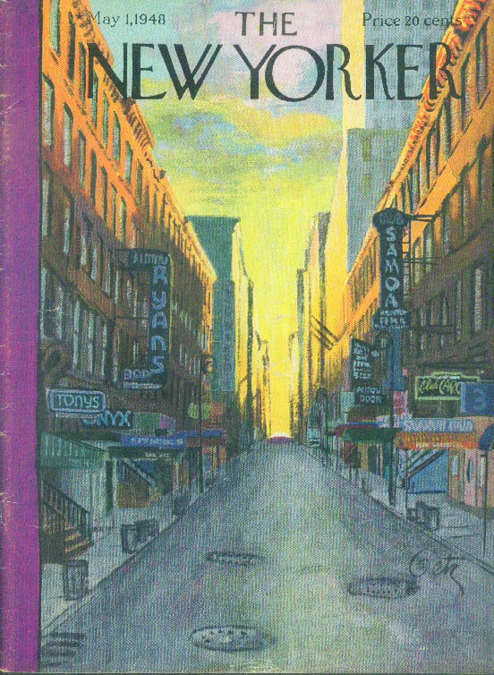 Image for New Yorker cover Getz sunrise on empty street 5/1 1948
