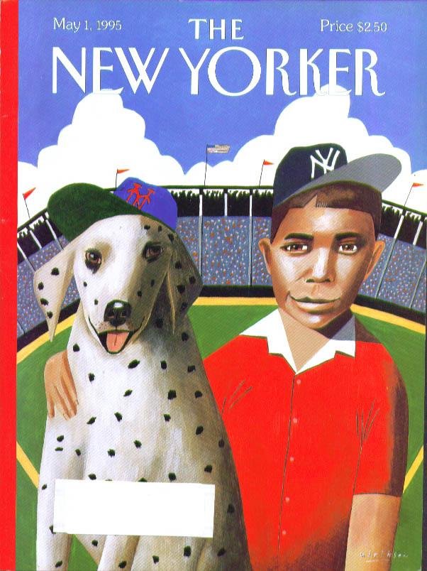 New Yorker cover Ulriksen Met dog Yankee fan 5/1 1995