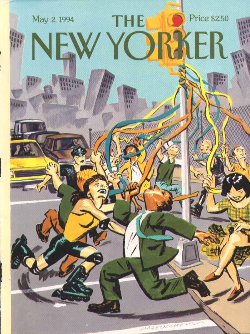 New Yorker cover Mazzuchelli urban May Pole 5/2 1994