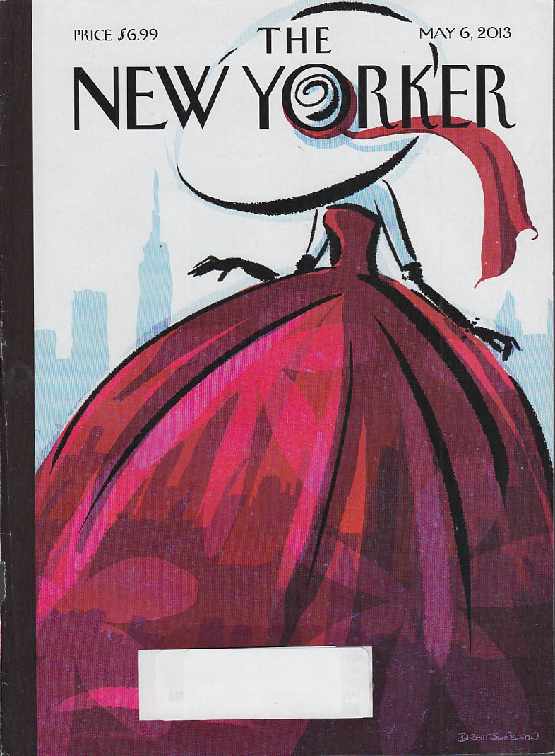 New Yorker cover 5/6 2013 Schossow: huge hat puffy skirt fashionista