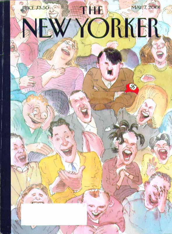 New Yorker cover Barry Blitt comedy audience howls Hitler not amused 5/7 2001