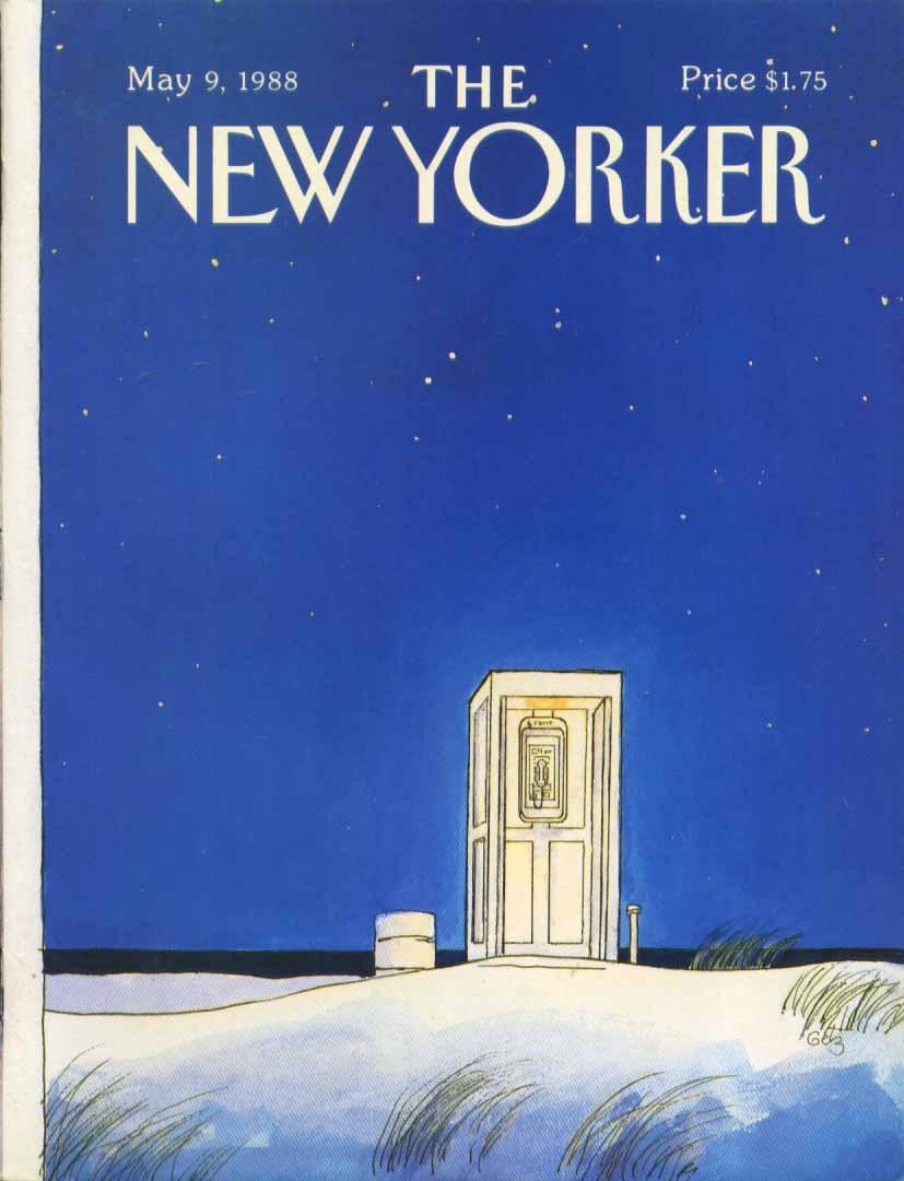 New Yorker cover Getz phonebooth night beach 5/9 1988