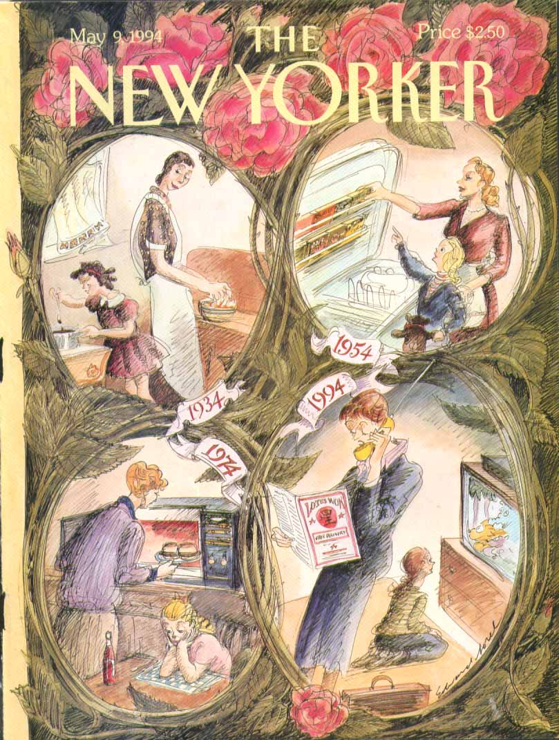 New Yorker cover Sorel mom daughter cook 1934 5/9 1994