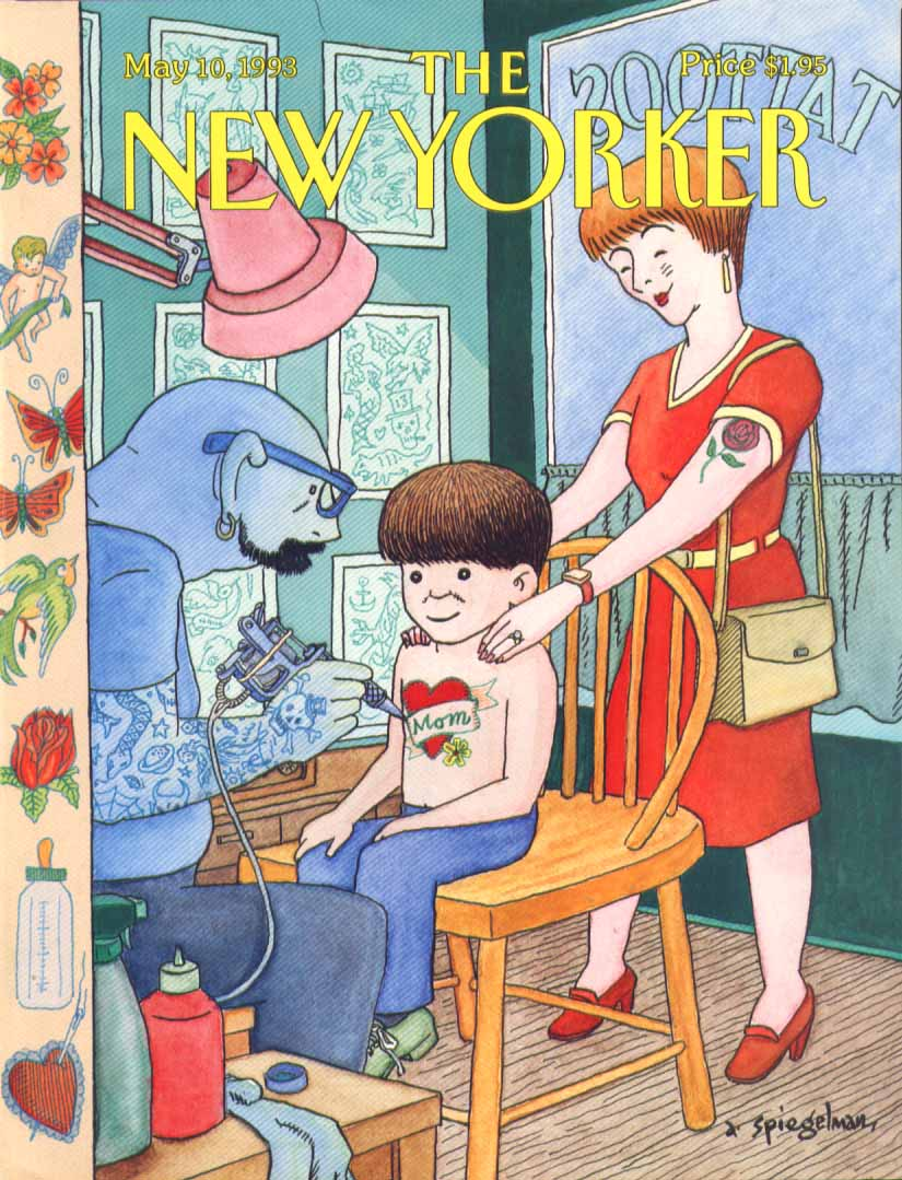 New Yorker cover Spiegelman boy & MOM tattoo 5/10 1993