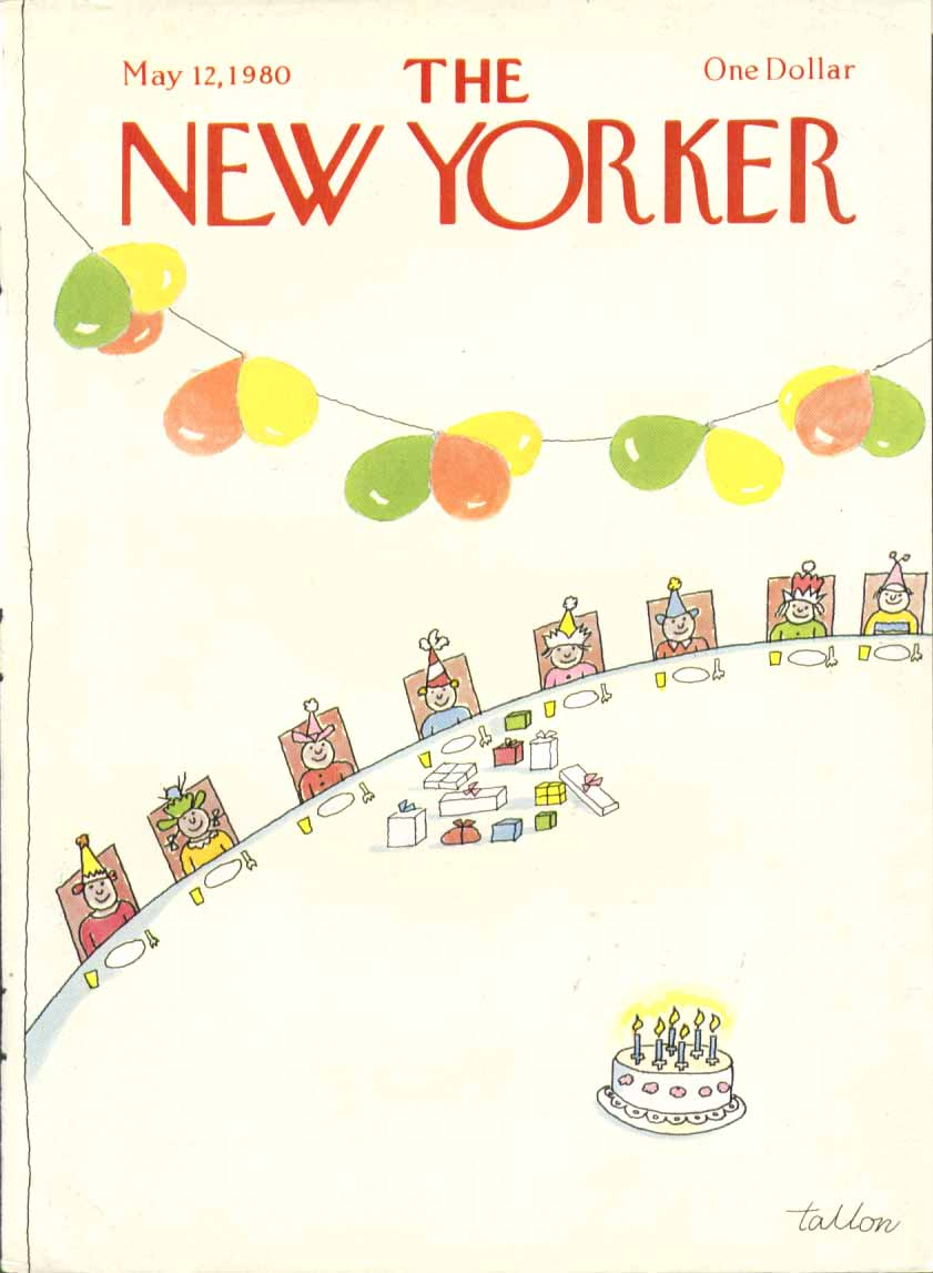 New Yorker cover Tallon kids birthday party 5/12 1980