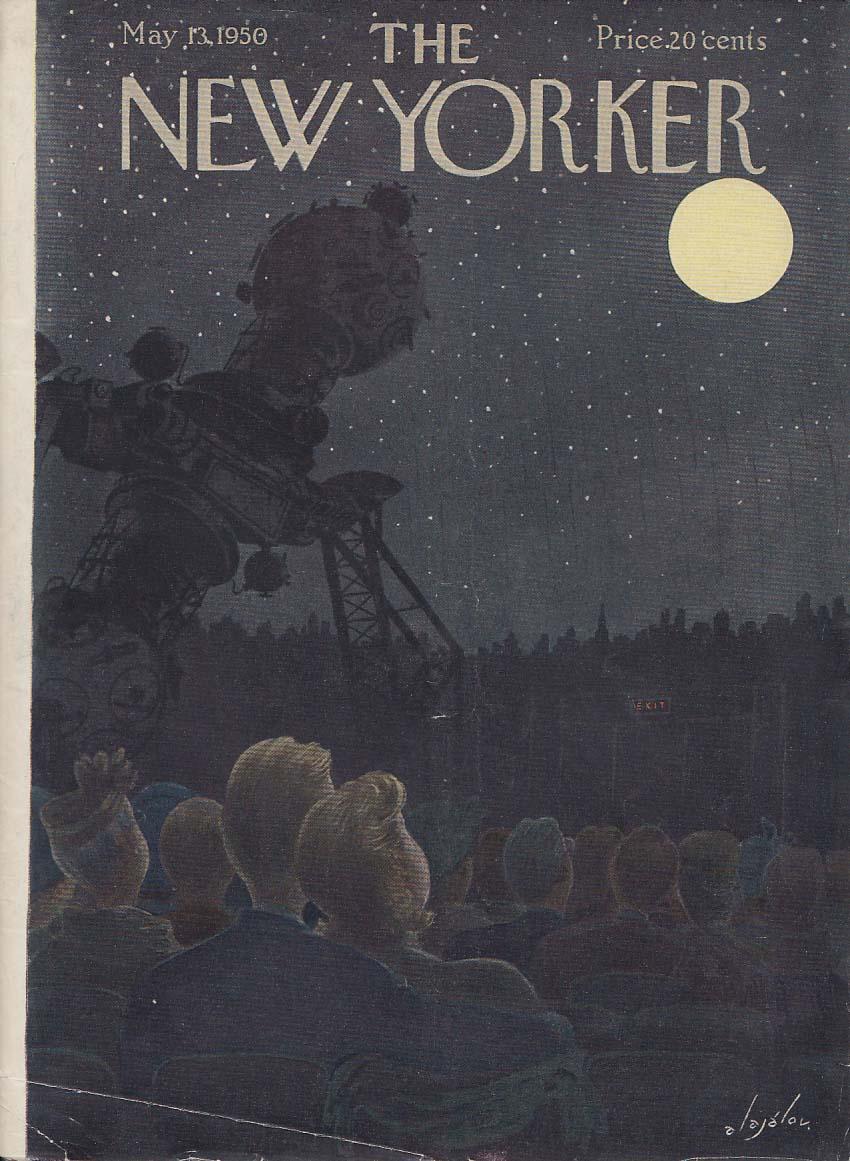 New Yorker cover Alajalov inside Hayden Planetarium 5/13 1950