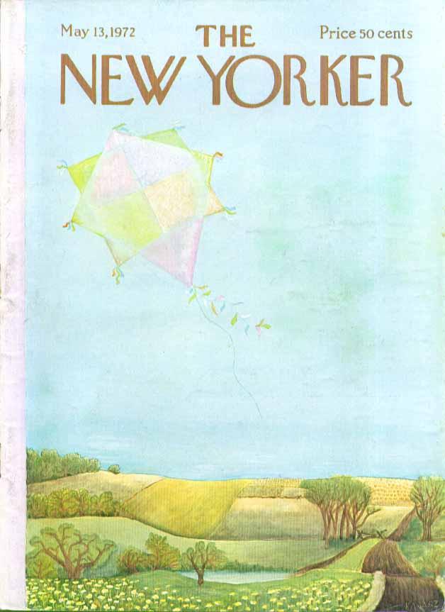 New Yorker cover Karasz kite flies alone 5/13 1972