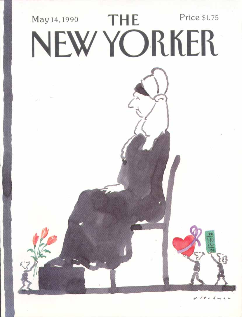 New Yorker cover Blechman Whistler's Mom day 5/14 1990