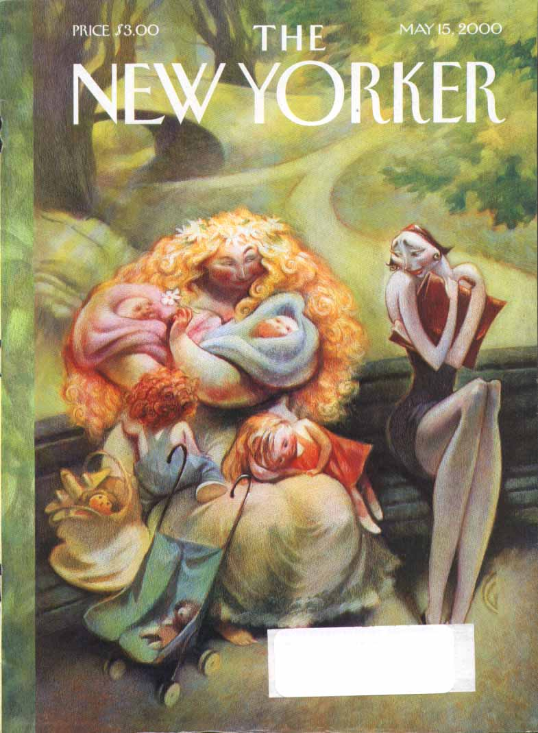 New Yorker cover CG Mother of 4 envied 5/15 2000
