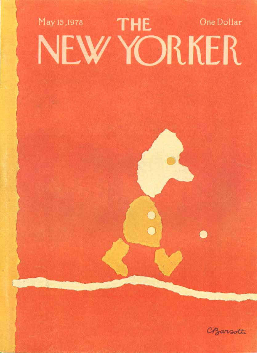 New Yorker cover Barsotti orange tightrope 5/15 1978