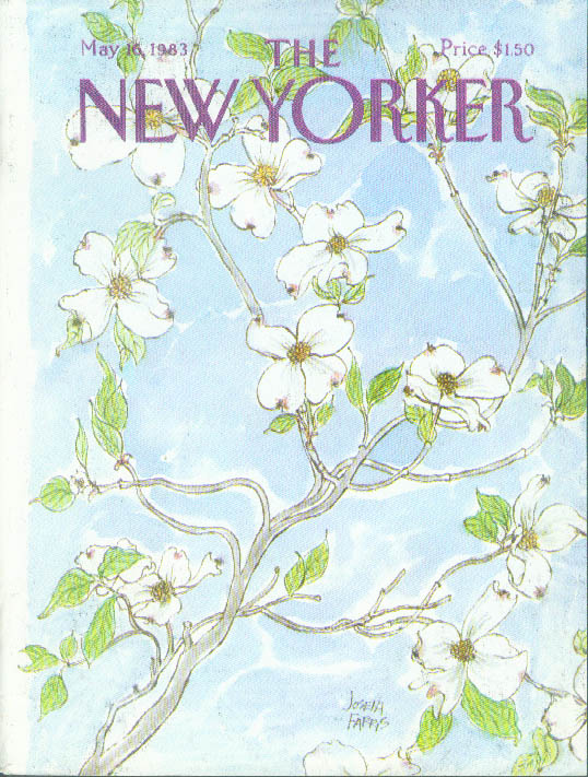New Yorker cover Farris dogwood in bloom 5/16 1983