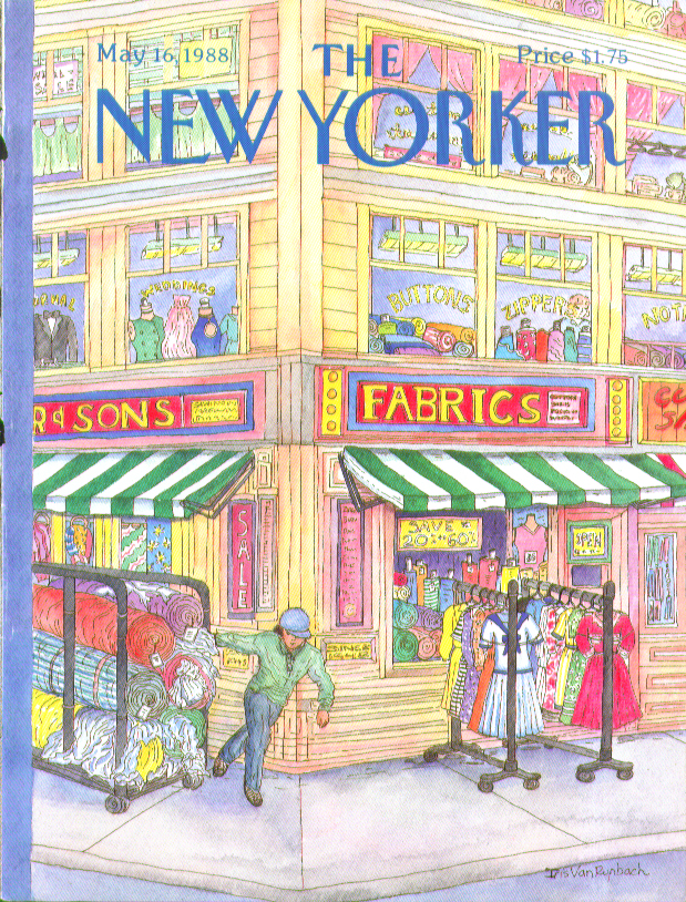New Yorker cover Van Rynbach garment district 5/16 1988