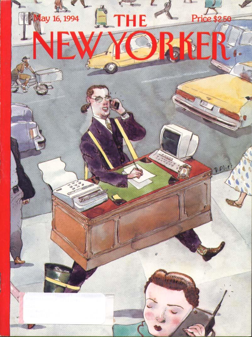 New Yorker cover Blitt desk strap-on desk 5/16 1994