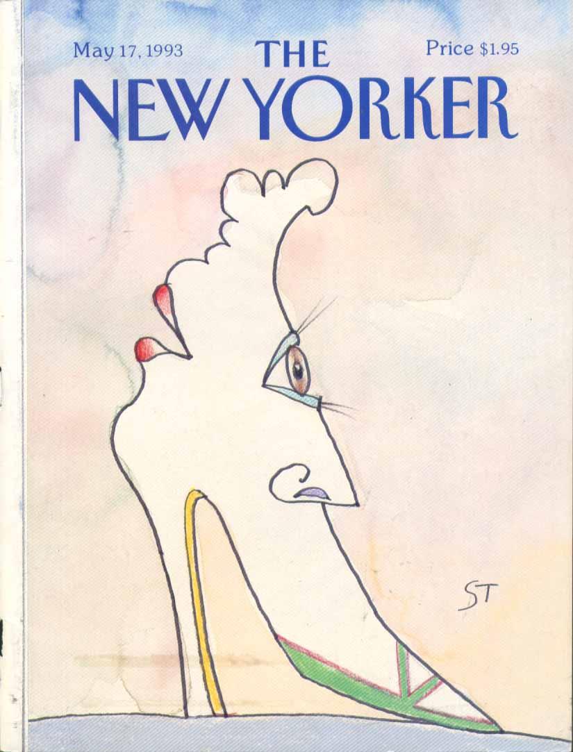 New Yorker cover Steinberg highheel face 5/17 1993