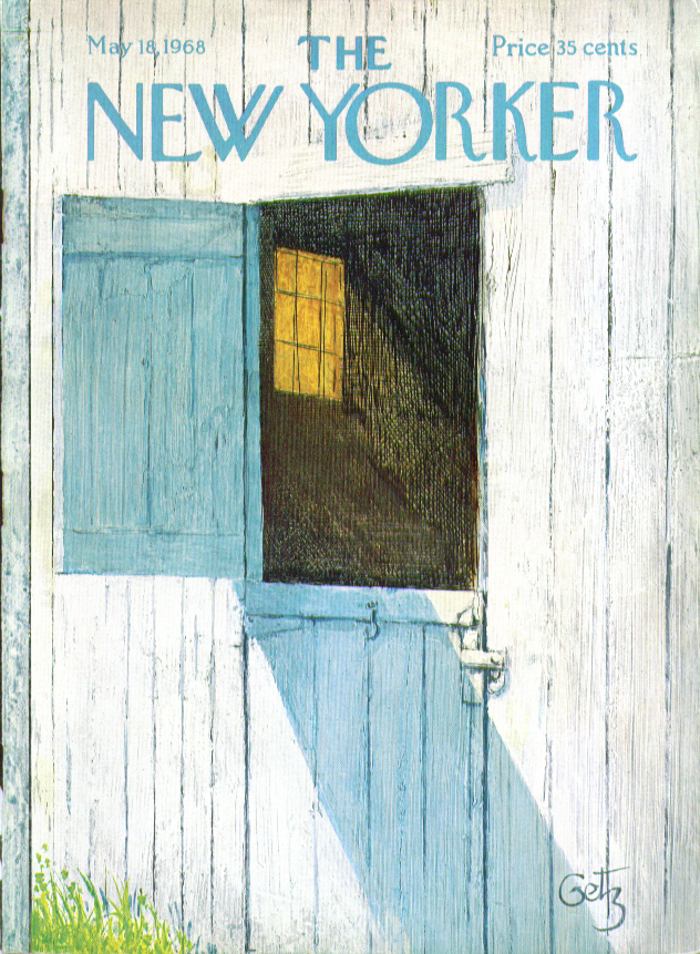 New Yorker cover Getz barn dutch door open at the top 5/18 1968