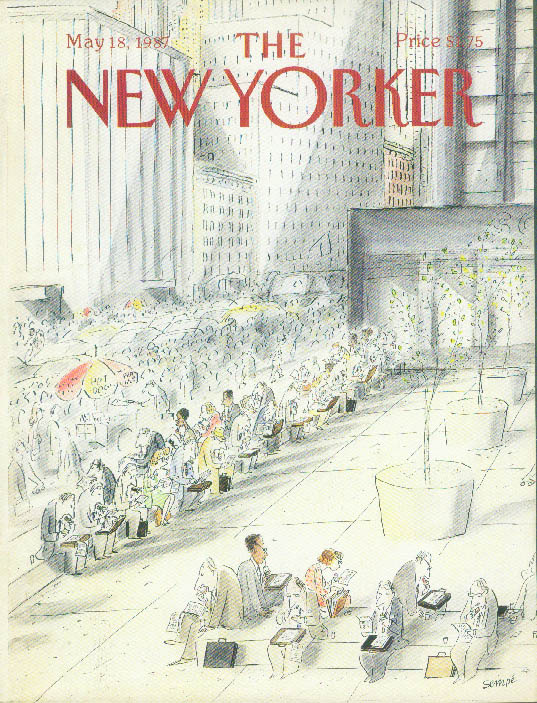 New Yorker cover Sempe outdoor city lunch 5/18 1987