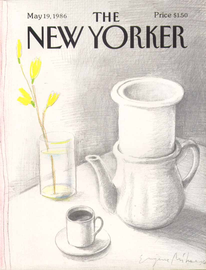 New Yorker cover Mihaesco coffee still life 5/19 1986