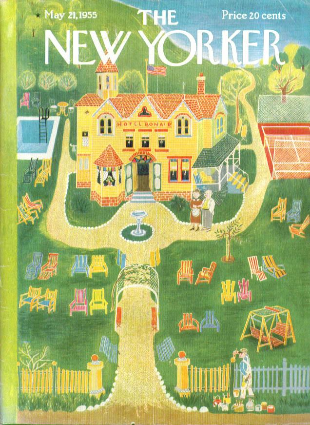 New Yorker cover Karasz Hotel Bonair opens for the season 5/21 1955